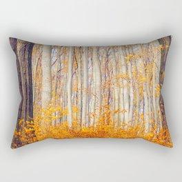 Golden Autumn Forest (Color) Rectangular Pillow