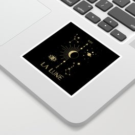 The Moon or La Lune Gold Edition Sticker
