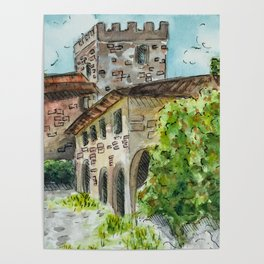 Castle Vineyard Poster