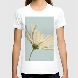 white cosmea T-shirt