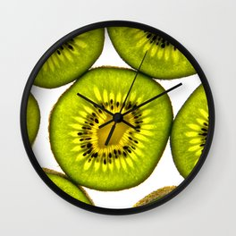 KiwiFruit slices Wall Clock