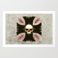 warhammer Art Prints featuring Black Voltigeurs by Imperial Diet