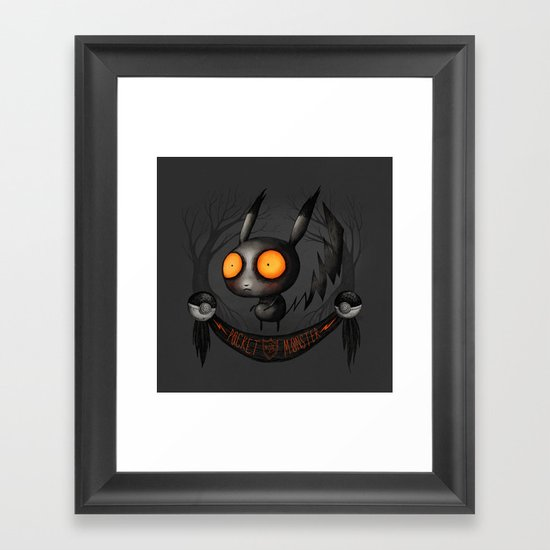 Pocket Monster #025 Framed Art Print