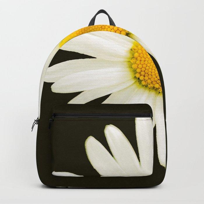 Daisy on a black background - #Society6 #buyart Backpack