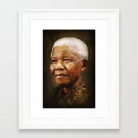 mandela Framed Art Prints featuring Mandela by Kimberley Britt