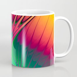 Outburst Spiral Fractal neon colored Coffee Mug