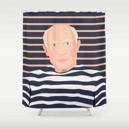 Pablo Picasso portrait Shower Curtain
