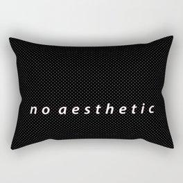 no aesthetic Rectangular Pillow