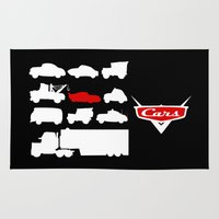 cars Area & Throw Rugs featuring Cars by Citron Vert