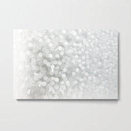 Minimalist Grey and White Bokeh Photograph Metal Print