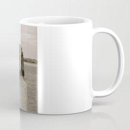Black and White Pier Coffee Mug