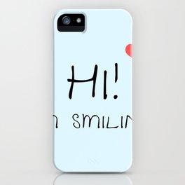 Hi! (I'm Smiling) Face Mask iPhone Case