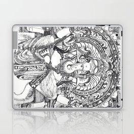 Genish black and white line drawing Laptop & iPad Skin