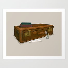 LOST Luggage / Sawyer Art Print