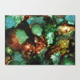Geode I, Malachite Canvas Print