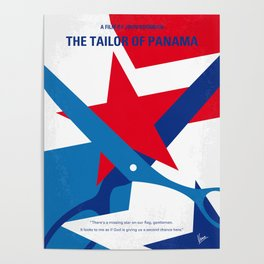 No923 My The Tailor of Panama minimal movie poster Poster