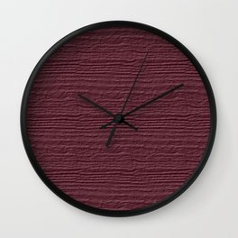 Crushed Berry Wood Grain Texture Color Accent Wall Clock