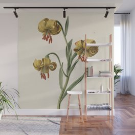 M. de Gijselaar - Branch with three yellow lilies (1834) Wall Mural