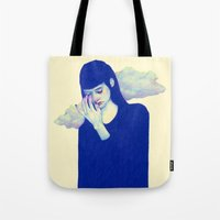clouds Tote Bags featuring Clouds by Natalie Foss