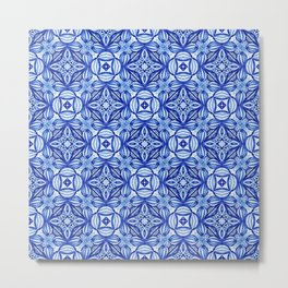 For the Love of Blue - Pattern 372 Metal Print