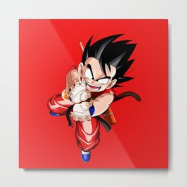 Goku Kamehameha Metal Print