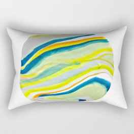 Earth Lines Marbling, Unite Rectangular Pillow