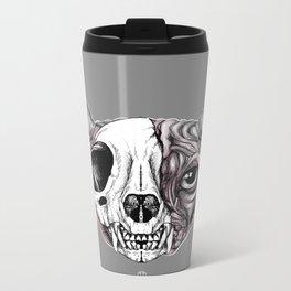 Shynx Half Skull Metal Travel Mug