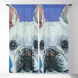 French Bulldog Portrait Painting Blackout Curtain