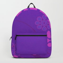 Purple Marine Flowers-Fashion Colors Backpack