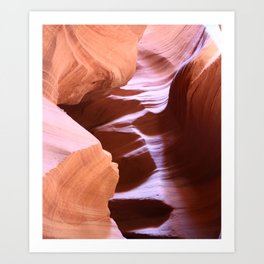 Antelope Colors Abstract Sandstone Waves Art Print