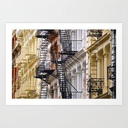 Fire Escapes of SoHo NYC Art Print