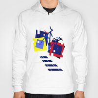 bicycles Hoodies featuring Abstract geometrical bicycles. by capricorn