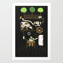 Now I Can Sit and Eat Cereal Forever Art Print