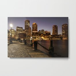 The Lights of Boston pier Metal Print