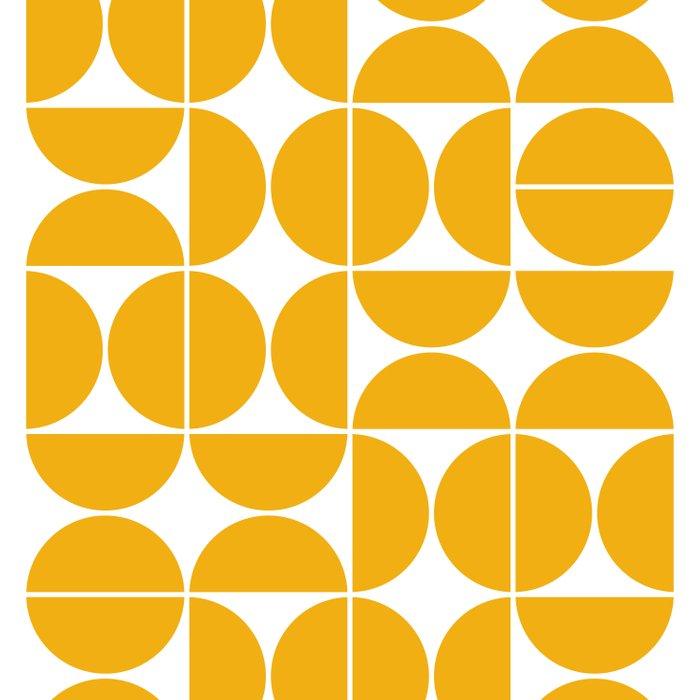 Mid Century Modern Geometric 04 Yellow Comforters