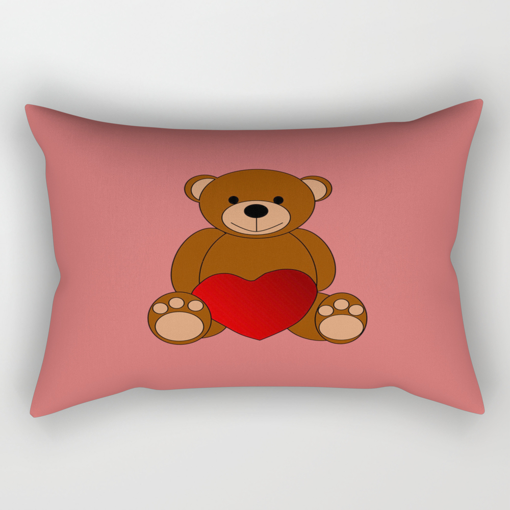 Teddy Love Rectangular Pillow RPW8612077