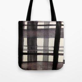 Painterly Plaid Tote Bag