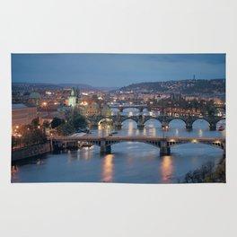 Prague Cityscape Rug