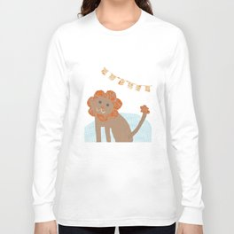 lion collage Long Sleeve T-shirt