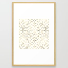 Modern Art Deco Geometric 1 Framed Art Print