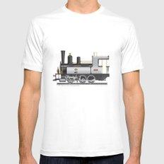 Locomotive MEDIUM Mens Fitted Tee White