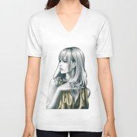 sound V-neck T-shirts featuring sound by Shusei Mochizuki