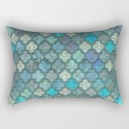 Moroccan Inspired Precious Tile Pattern Rectangular Pillow