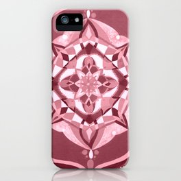 Radial 19 - Pink iPhone Case