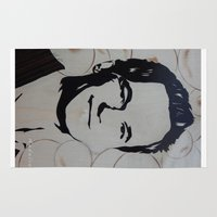 neil gaiman Area & Throw Rugs featuring Barney Stinson (Patrick Neil Harris) by Andulino
