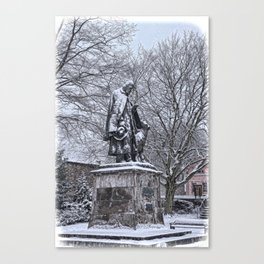 Tennyson in the Snow Canvas Print