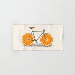 Zest (Orange Wheels) Hand & Bath Towel