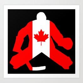 Canadian Flag Goalie Art Print