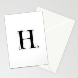 H . - Distressed Initial Stationery Cards