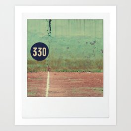 330 Feet For A Home Run Art Print